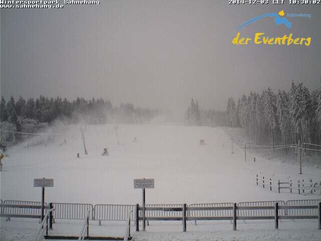 De eerste sneeuw in Winterberg